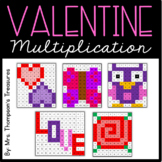 Valentine's Day Math Activities - Multiplication Mystery Pictures