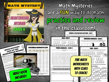 4th Grade Valentine's Day Math Mystery Activity
