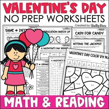 Valentine's Day Math - No Prep Packet