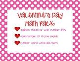 Valentine's Day Math Pack - Addition, 10 Frames, and Number Words