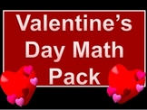 Valentine's Day Math Pack Worksheets
