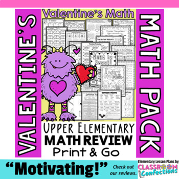 Valentine's Day Math: Worksheets: 4th Grade