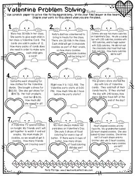 valentine 39 s day math worksheets 4th grade by elementary lesson plans. Black Bedroom Furniture Sets. Home Design Ideas