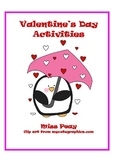 Valentine's Day Math Packet Common Core Second Grade
