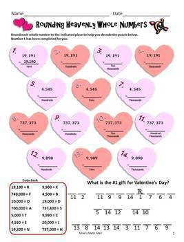 Valentine's Day Math Packet (Decimals and Fractions with Word Problems)