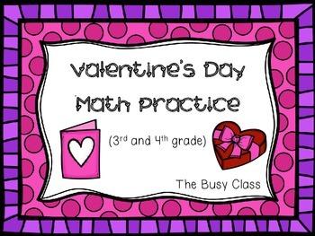 Valentine's Day Math Practice (3rd-4th)