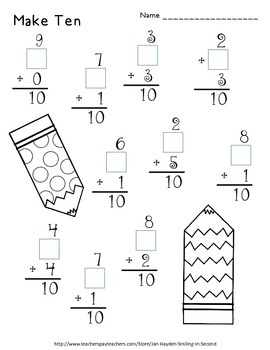 Valentine's Day Math Print and Go Worksheets
