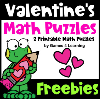 image relating to Valentines Puzzles Printable titled Valentines Working day Absolutely free: Valentines Working day Math Worksheets: Valentines Math Heart