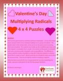 Valentine's Day Math Puzzles - Algebra- Multiplying Radicals