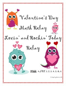 Valentine's Day Math Relay Challenge:  Review of Math Concepts