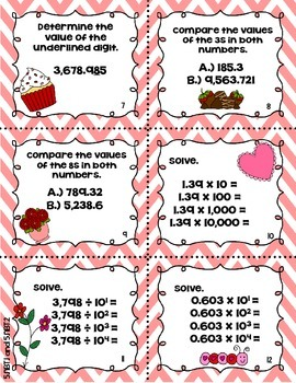 Valentine's Day Math Review Game {5th Grade CCSS}