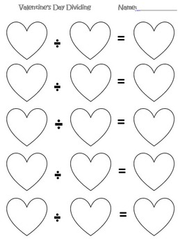 Valentine's Day Roll-a-Math Sheets