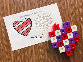 Valentines Day Math - Snap Block Centers