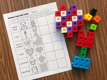 Valentines Day Math - Snap Block Centers