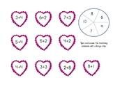 Valentine's Day Math Spinner Games (Tens Frames, Addition,