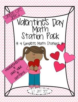 Valentine's Day Math Station/Center Pack