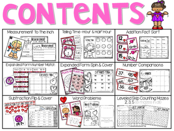Valentine's Day Math Stations (9 Activities)
