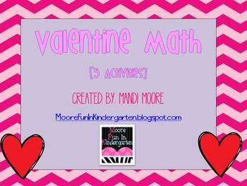 Valentine's Day Math Stations (Bundled)