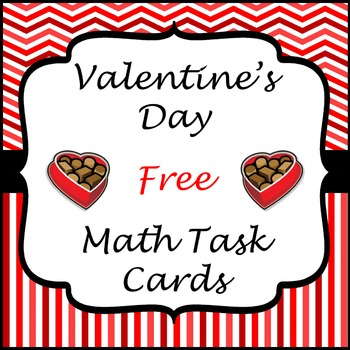 Valentine's Day Math Task Cards