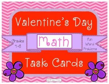 Valentine's Day Math Task Cards For Upper Grades