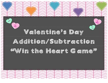 Valentine's Day Math Win the Heart Game