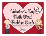 Valentine's Day Math Word Problem Cards (CCSS Aligned!)