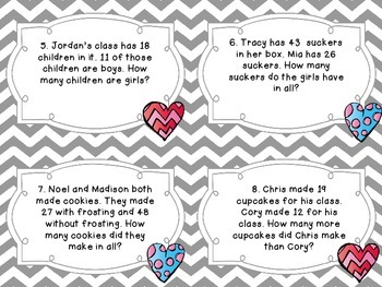 Valentine's Day Math Word Problems