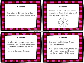 Valentine's Day Math Word Problems FREE
