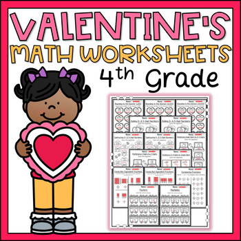 Valentines Day Math Worksheets 4th Grade