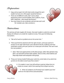 Valentine's Common Core Group & Center Activity