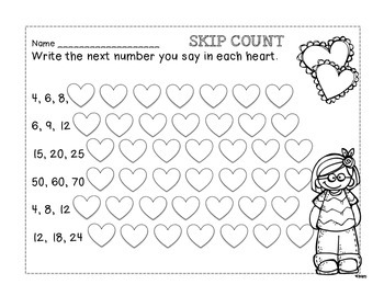 Valentine's Day Math and ELA PRINT AND GO