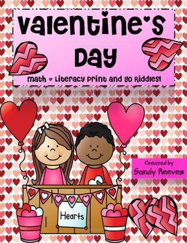Valentine's Day Math and Language Arts Riddles Print and Go CCSS