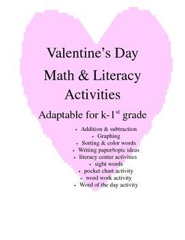 Valentine's Day Math and Literacy