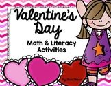 Valentines Day Math and Literacy Activities