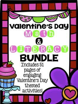 Valentine's Day Math and Literacy Activities Bundle
