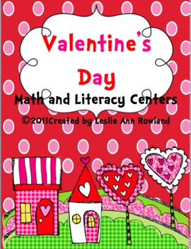 Valentine's Day Math and Literacy Centers {12)
