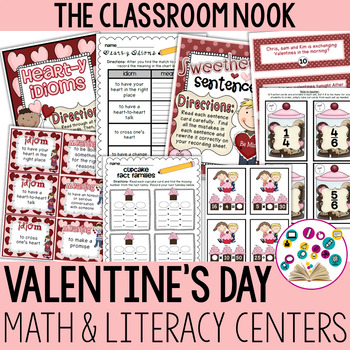 Valentine's Day Math and Literacy Centers for Older Students {Common Core}