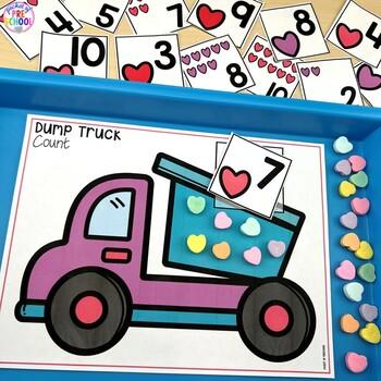 Valentine's Day Math and Literacy Centers for Preschool, Pre-K, & Kindergarten