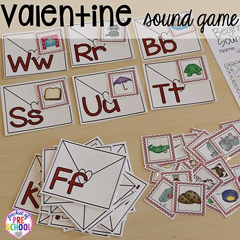 Valentine's Day Math and Literacy Centers for Preschool, Pre-K, & Kindergarten