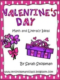 Valentine's Day Math and Literacy Ideas