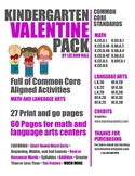 Valentine's Day Math and Literacy Kindergarten Pack