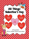 St Valentine's Day Math and Literacy Center Bundle