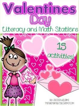 #BirthdaySale - Valentines Day Math and Literacy Stations