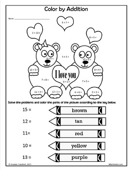 Valentine's Day NO PREP Printables - First Grade Common Core Math and Literacy