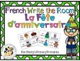 French Write the Room: Birthday Party