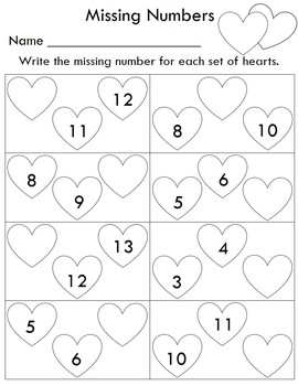 Valentine's Day Math and Numbers