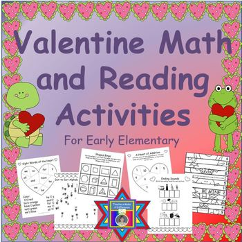 Valentine's Day Activities - Reading and Math