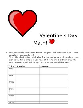 Valentine's Day Math with Candy Hearts