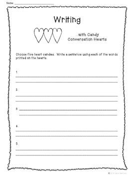Valentine's Day Math {with Conversation Heart candies}