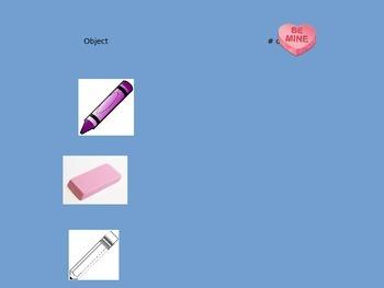 Valentine's Day Measurement Book